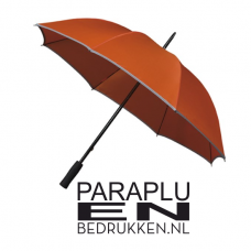 Golfparaplu met reflecterende rand/piping incl. opdruk